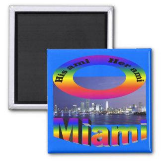 His Ami, Her Ami - Miami Fridge Magnet