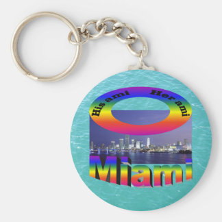 His Ami, Her Ami - Miami Keychain