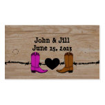His And Her Cowboy Boots Wedding Favor Hang Tag Business Card Templates