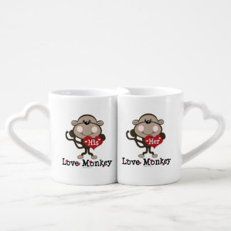 His and Her Love Monkey Couples Couples' Coffee Mug Set