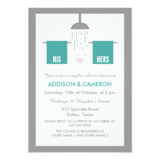 His and Hers | Couple's Shower Card