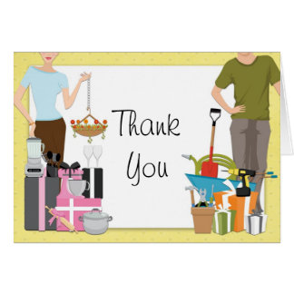 His and Hers Couples Wedding Shower Thank You Card