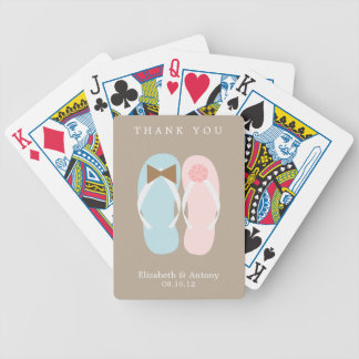 His and Hers Flip Flops Beach Wedding Card Deck