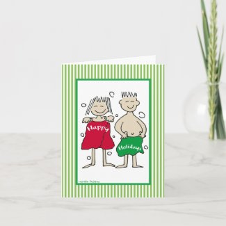 His and Hers Happy Holiday Cards