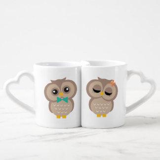 His and Hers Owl Couple Couples Coffee Mug