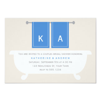 His and Hers Towels Bridal Shower {blue} Custom Invite