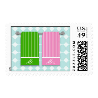 His and Hers Towels Mr. and Mrs. Wedding Postage