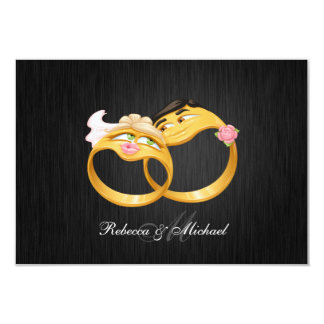 His and Hers Wedding Rings RSVP Cards
