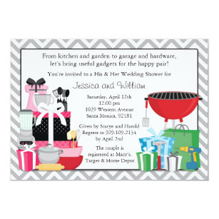 df18243f105 His And Her Shower Invitations Zazzle