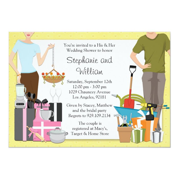His Hers Wedding Invitations Templates: His And Hers Wedding Shower Invitation