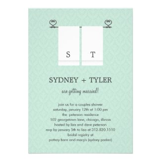 His and Hers Wedding Shower Invitation (Blue)