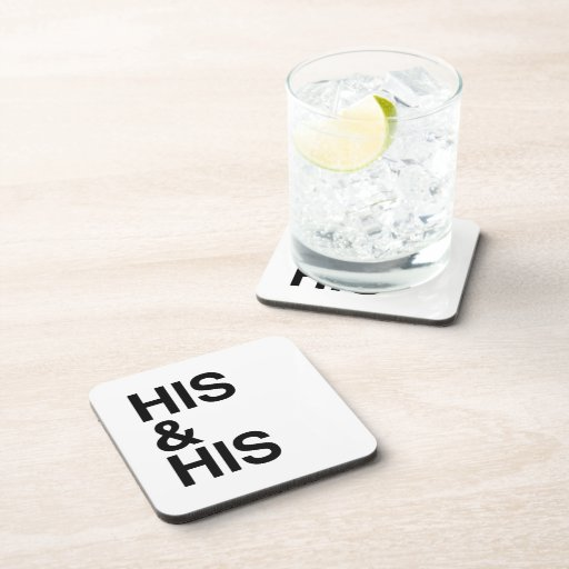 HIS AND HIS -.png Coaster
