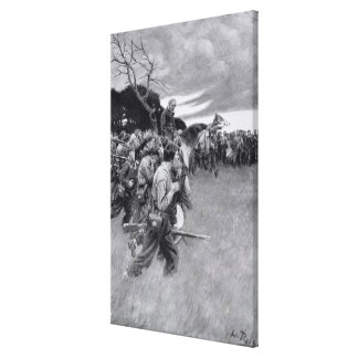 His army broke up weeping and sobbing' gallery wrapped canvas