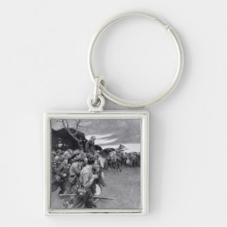 His army broke up weeping and sobbing' keychain