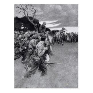 His army broke up weeping and sobbing' postcard