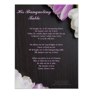 His Banqueting Table... Written by: Cheryl Kinney Poster