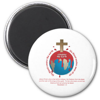 His Blood Covers All Sin 2 Inch Round Magnet