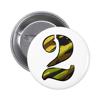 His Camo Numbered Series Pinback Button