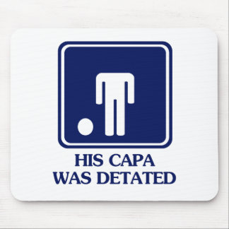 His Capa was Detated Mouse Mats