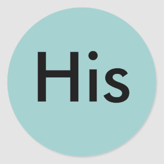His Classic Round Sticker