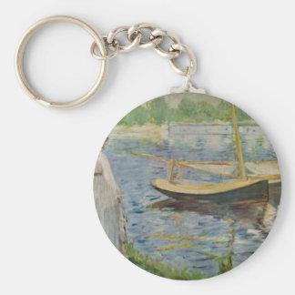 His embankment at Argenteuil by Edouard Manet Keychain