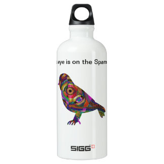 His eye is on the Sparrow Aluminum Water Bottle