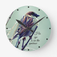 HIs eye is on the Sparrow Clocks