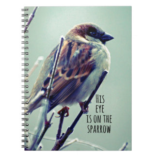 HIs eye is on the Sparrow Spiral Note Book