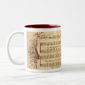 His Eye Is On The Sparrow Vintage Design Mug