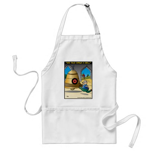 """""""His Face Rings A Bell"""" Adult Apron"""