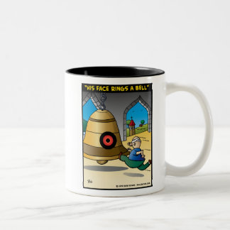 """""""His Face Rings A Bell"""" Two-Tone Coffee Mug"""