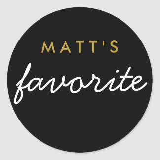 """His"" Favorite Snack Classic Round Sticker"