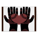 His hands are healing hands greeting card