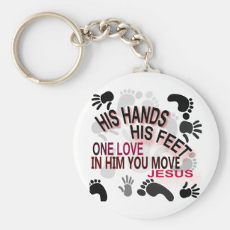 His Hands Keychain