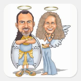 HIS & HER ANGELS sticker