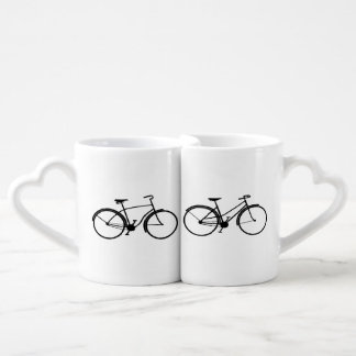 His & Her Bicycles Coffee Mug Set
