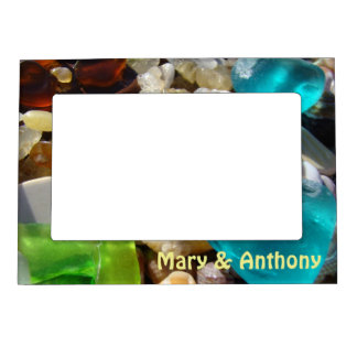 His Her Name Magnetic Photo Frames Beach Coast