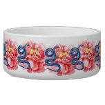 His Her Snake Rose Personalize Wedding Party Bowl Pet Water Bowl