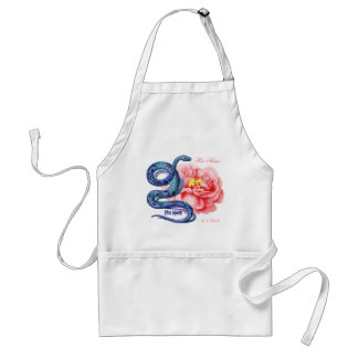 His Her Snake Rose Personalize Wedding Party Gift Adult Apron