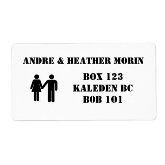 His & Hers Adress Labels