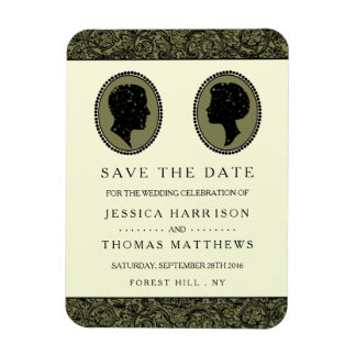 His & Hers Art Deco Silhouette Wedding Collection Magnet