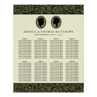 His & Hers Art Deco Silhouette Wedding Collection Poster