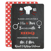 His & Hers Bachelor/Bachelorette BBQ Invitation