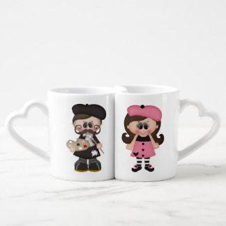 His & Hers Custom Paris Mugs Couples' Coffee Mug Set