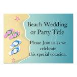 His/Hers Flip Flops on the Beach Custom Announcements
