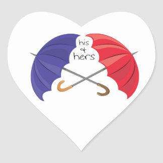 His & Hers Heart Sticker
