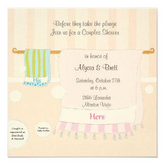 His & Hers 5.25x5.25 Square Paper Invitation Card