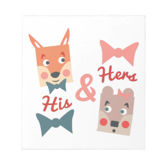 His & Hers Memo Notepad