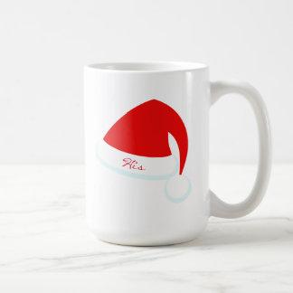 His & Hers Santa Hat Holiday Mug