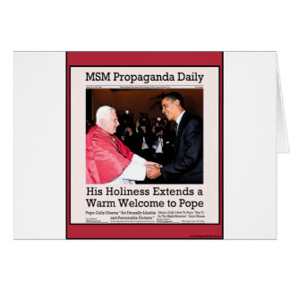 His Holiness Meets The Pope Greeting Card